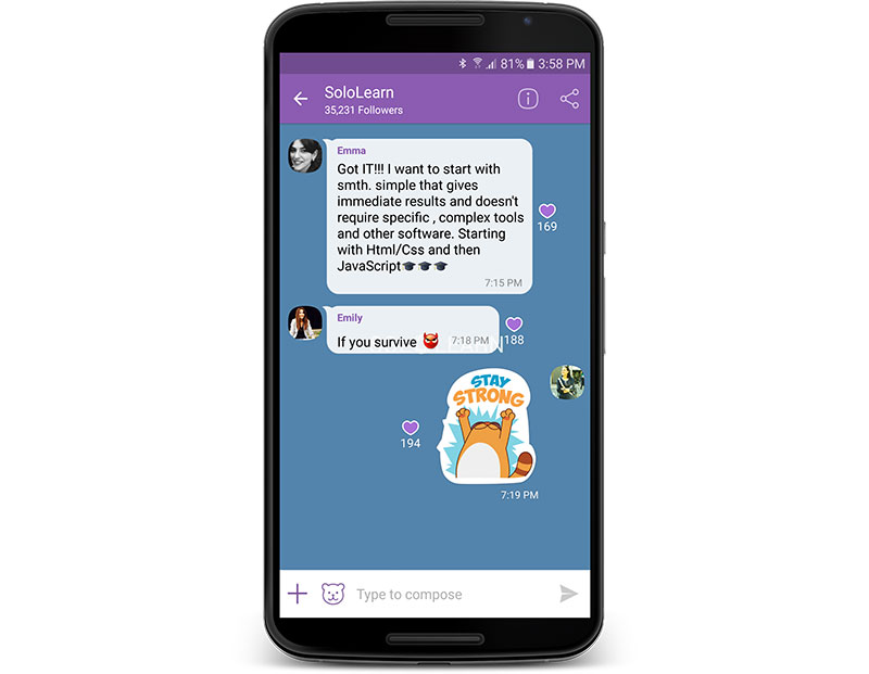 SoloLearn on Viber